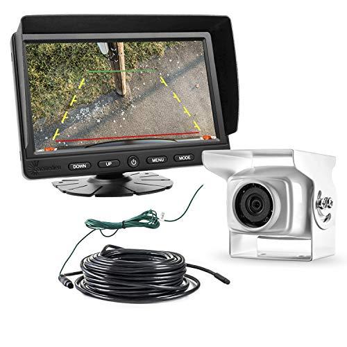 Carmedien CM-ESRFS2 Système de recul vidéo pour camping-car avec blanche 120° caméra, 7\