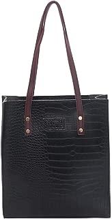 chinatera Women's Soft Leather Tote Shoulder Bag, Alligator Pattern Shoulder Handbags Women Leather Totes Top-Handle Bags