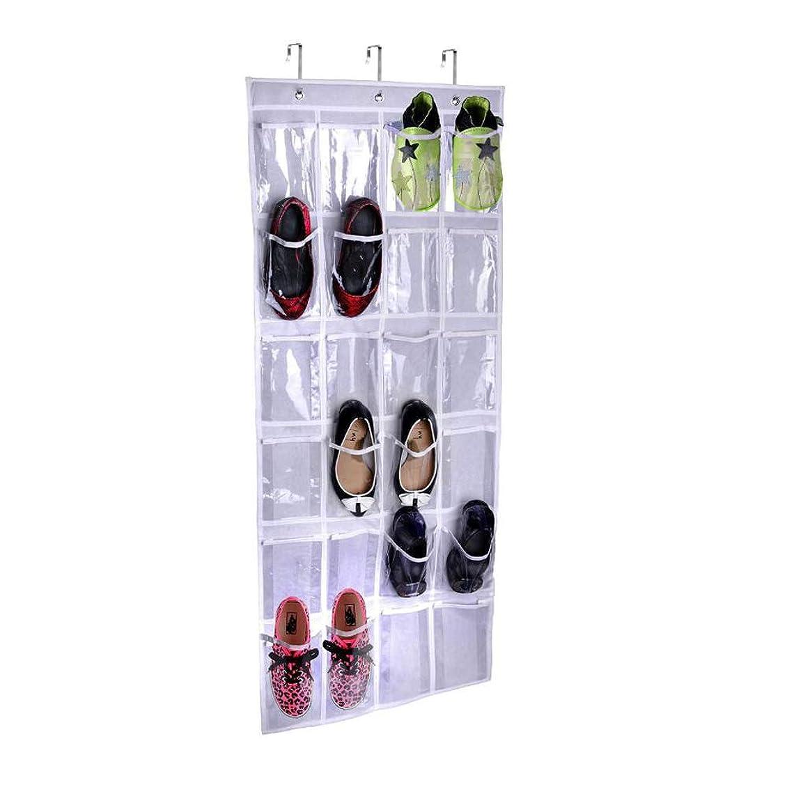 略す累積実用的ドアの上の靴オーガナイザーシンプルな家庭用品24ポケット大クリアポケット(59