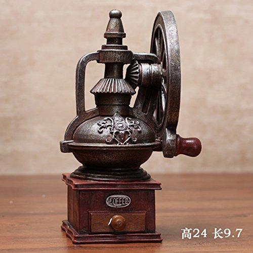 ZSWshop Dekoration Nordisches antikes Kunsthandwerk-Modell, kreative Requisiten, Wohnzimmer-Weinschrank im europäischen Stil, Heimtextilien, amerikanische weiche Ornamente, dunkelgrüne Kaffeemaschine