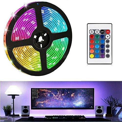 Cliselda LED TV Hintergrundbeleuchtung, 1M USB LED Strip Lichtband mit Fernbedienung für 10-70 Zoll LED Beleuchtung Fernseher und PC-Monitor - 10cm LED Streifen