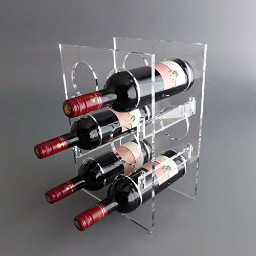lobotec-acryl Weinregal, Flaschenregal Bacchus Mini Plexiglas Acrylglas für 6 Flaschen
