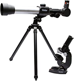 Kit combinado telescópio e microscópio, Vivitar, VIVTELMIC20