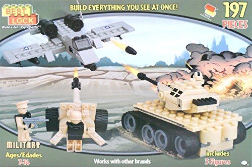 Best Lock Military Plane, Bulldozer, Anti-air Gun 197 Pieces