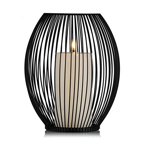 Sziqiqi Moderner einfacher Eisenkerzenstand, romantische Hochzeit kreative Kerzenständer, Romantisches Abendessen Haus Deko, 19cm×24cm