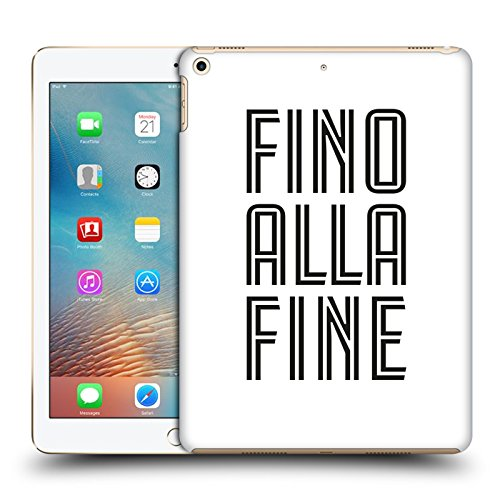 Head Case Designs Oficial Juventus Football Club Fino Alla Fine Blanco Tipo Carcasa rígida Compatible con Apple iPad 9.7 2017 / iPad 9.7 2018