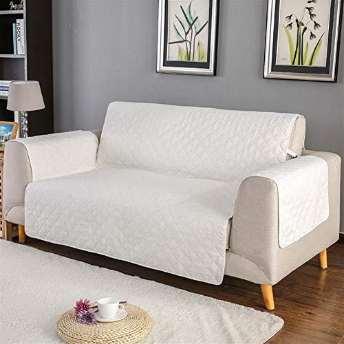 Liveinu Sofaüberwurf mit rutschfest Sesselschoner Sofaschoner Sofa Matte für Hunde Katzen Sofa Schutz Abdeckung Wasserresistenter Möbelschutz Überwurf 1-Sitzer 55 x 195 cm Weiß