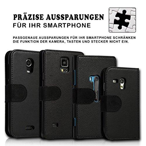 sw-mobile-shop Book Style Huawei Ascend Y330 Premium PU-Leder Tasche Flip Brieftasche Handy Hülle mit Kartenfächer für Huawei Ascend Y330 - Design Flip SB297 - 4