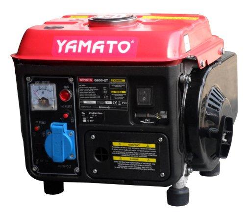 YAMATO 7173000 Generador 800w 63cc 2 Tiempos, 800 W, negro