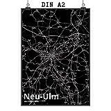 Mr. & Mrs. Panda Poster DIN A2 Stadt Neu-ULM Stadt Black -