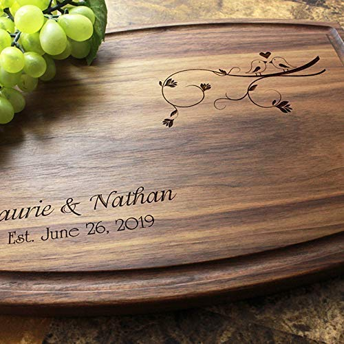 Personalized Engraved Custom Cutting Board Max Brand new 77% OFF - Engagem Designs for