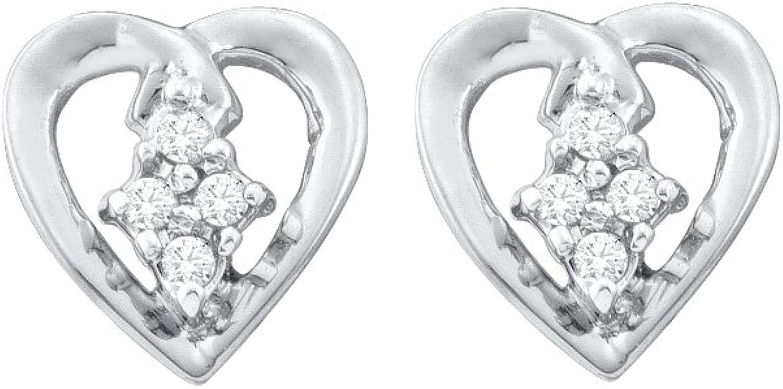 1 12 Total Carat Weight DIAMOND HEART EARRING