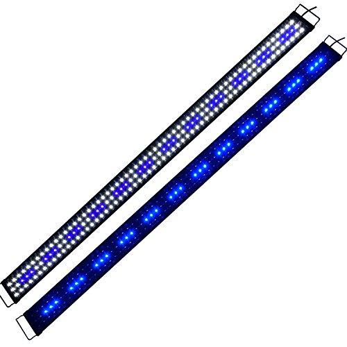 Lumiereholic Aquarium Beleuchtung LED Aufsetzleuchte Lampe Licht Aquariumleuchte Blau Weiß Lampe 180-200cm