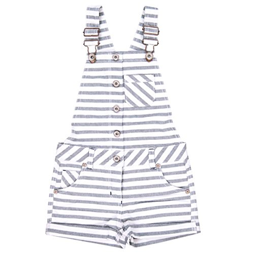 Boboli Mädchen Denim Dungarees for Girl Latzhosen, Mehrfarbig (Stripes 9442), 104 (Herstellergröße: 4)