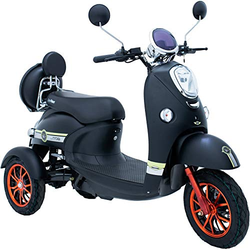 Green Power Brand New 3 Wheeled Electric Mobility Scooter LED Light (Black)