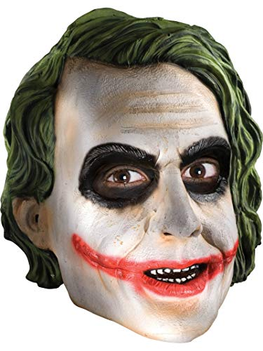 Rubie's Men's Batman The Dark Knight The Joker Adult 3/4 Mask, Multi, One Size