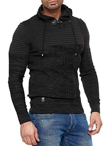 Redbridge Suéter de Punto Jersey Tejido de Cuello para Hombre Negro S