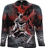 DC Comics - Batman - Asylum Wrap - Camiseta de Manga Larga - Estampado Completo - Negro - M