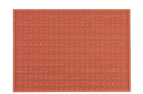 Martellato Grec Tapis Relief carré, 30 mm, en Silicone, Marron, 60 x 40 x 30 cm
