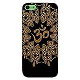 Laser Engraved Wood Case for Apple iPhone Samsung Galaxy Spiritual Floral Om Meditation Mandala for iPhone 5c Black Case