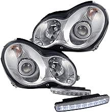 Mercedes Benz C230 C240 C320 Projector Headlights + 8 Led Fog Bumper Light