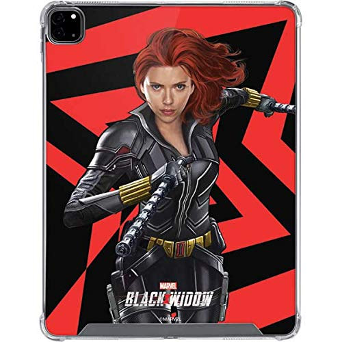 Skinit Clear Tablet Case for iPad Pro 12.9in (2020) - Officially Licensed Marvel Black Widow Geometric Design