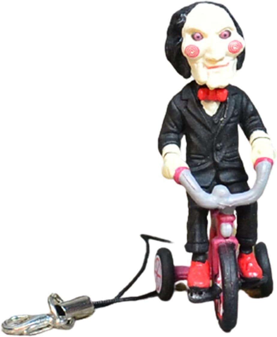 Adorno de jardín para exteriores de PVC lindo adorno de motosierra, adornos de terror de PVC, estatua de escritorio - Figura de bicicleta para sentado/montar en bicicleta