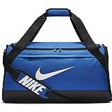 Nike Brasilia Training Duffel Bag, Versatile Bag with Padded Strap and Mesh Exterior Pocket, Medium, Game Royal/Black/White