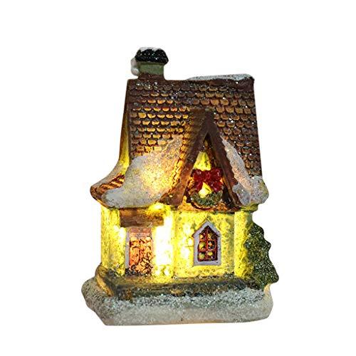 Sayla Häuser für Minipuppen, Weihnachten Miniatur Puppenhaus Kit Realistische Mini 3D Holzhaus Zimmer Handwerk mit Möbel Leuchten Kindertag Geburtstagsgeschenk Weihnachtsdekoration (G)
