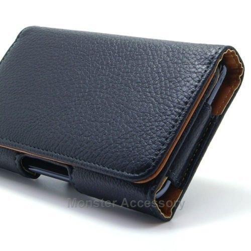 Motorola Droid Turbo XT1254 Leather case, Leather Pouch Belt Clip Case Holster for Motorola Droid Turbo XT1254 (Black)