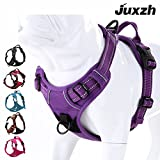 JUXZH Soft Front Range Dog Harness .3M Reflective No Pull Harness with Handle