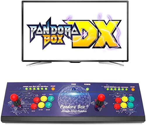 Wisamic Real Pandora's Box DX Arcade Spielkonsole: Unterstützung 3D Spiele mit Full HD Klassifizierung verbesserte CPU Unterstützung PS3 PC TV 2 Spieler,Keine Spiele enthalten 6 Tasten