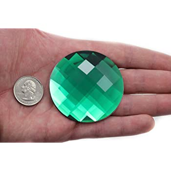 50mm x 2 Large Round Button Emerald Green