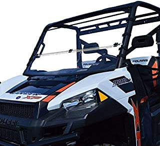 Clearly Tough Polaris Ranger Full Size (50 Width) Windshield (2015 & Newer) Full Folding -Scratch Resistant- The Ultimate in Side by Side Versatility!Premium Poly w/Hard Coatmade in America!!