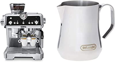 De'Longhi La Specialista Espresso Machine with Sensor Grinder, Dual Heating System, Advanced Latte System & Hot Water Spout for Americano Coffee or Tea & Milk Frothing Jug, 12 oz, Stainless Steel