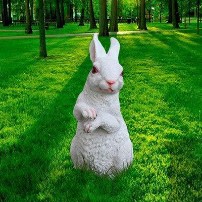 Ornements Sculptures Statues Animauxdécoration De Jardin Jardin Jardin d'enfants Sculpture Bande Dessinée Artisanat Affichage Simulation Résine Animal Bunny Ornements C