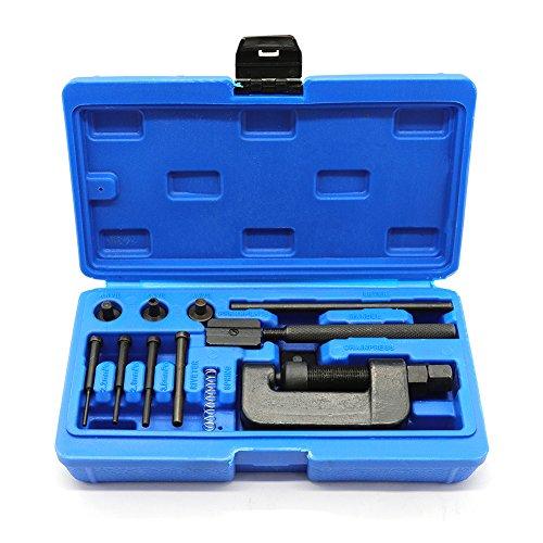 elegantstunning Kit de réparation pour chaîne de Moto avec séparateur de chaîne Bleu