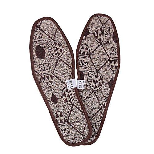 MMXXAIWWAA bamboe houtskool inlegzolen sport verdikking zachte mannen en vrouwen schoenen enkele schoenen ademende zweet deodorant zomer deodorant te voet geur, 42, kleur
