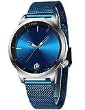 CIVO Reloj Hombres Acero Inoxidable Azul Minimalista Relojes Pulsera Hombre Impermeable Design Reloj para Hombres Analogico Cuarzo Sencillo Clásico Vestido de Negocios Casual Moda
