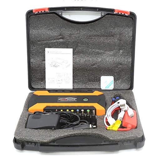 LALEO Arrancador de Coches (hasta 6, 0L Gasolina o 5, 0L Diesel), 1000A 20000mAh 12V IP68 Impermeable con Pantalla LCD Carga Rápida QC3.0 USB Linterna LED Powerbank Jump Starter,Naranja