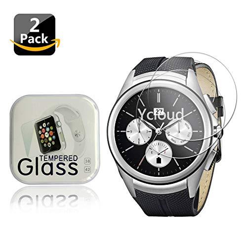 Ycloud [2-Unidades Protector de Pantalla de Vidrio Templado para LG G Watch Urbane 2nd Edition Smartwatch Alta Definicion 9H Dureza Anti-Explosion