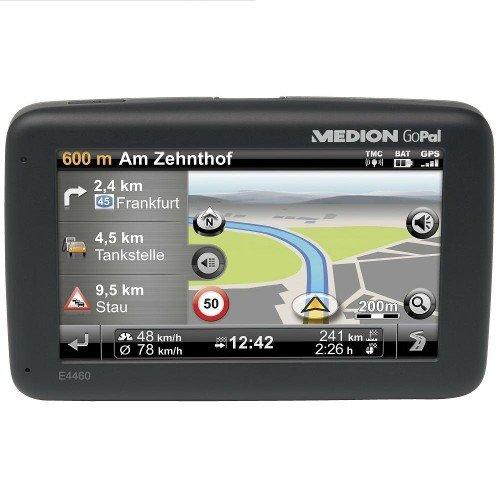 Medion Gopal E4460 EU Tragbares Navigationssystem (10,9 cm (4,3 Zoll) Touchscreen, Kartenmaterial EU, Clever Routes)