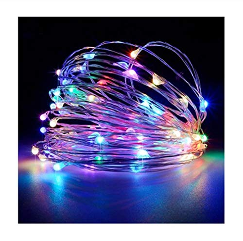 Fairy Tale String Lights 100 Lead Battery Powered Copper Wire led Lights Remote Control 8 Modes Waterproof Home Garden Wedding Party, A,20m 200led