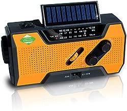 Service Survival Emergency Radio & NOAA Weather Radio   2000mAh Hand Crank Radio & Battery Powered Radio AM/FM NOAA Solar Radio Weather Radio Weather Radio LED Flashlight USB Power Charger