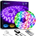 LED Strip Lights,Dalattin Led Light 32.8ft Waterproof Color Changing RGB 5050 300 LEDs Light Strips Kit with 44 Keys Remote Controller and 12V Power Supply for Room Bedroom Home Kitchen Indoor Outdoor