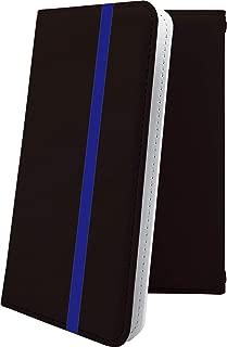 AQUOS Compact SH-02H ケース 手帳型 ブルー 青 あお おしゃれ アクオス コンパクト 手帳型ケース かっこいい SH02H AQUOSCompact ボーダー マルチストライプ