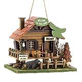 """Rustic Woodland Cabin Birdhouse 10.25x7.875x8.875"""""""