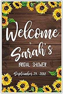 Sunflower Bridal Shower Welcome Sign Poster
