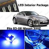 Classy Autos Nissan 350Z BLUE Interior LED Package (5 Pieces)