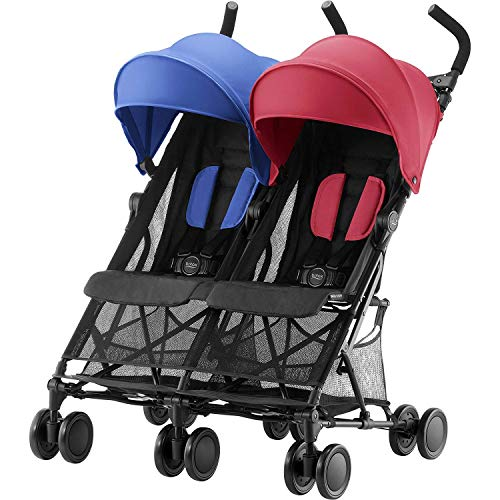 Britax Römer Buggy 6 Monate - 3 Jahre I 15 kg pro Sitz I HOLIDAY DOUBLE I Red/Blue